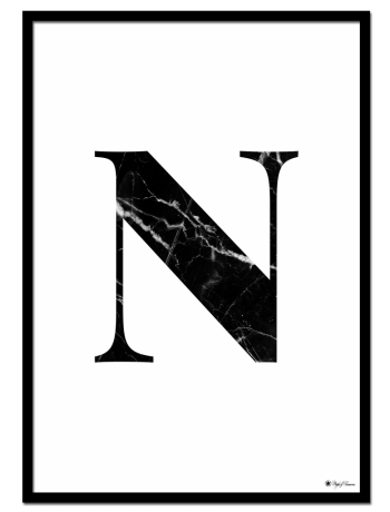 N – Marble Letter