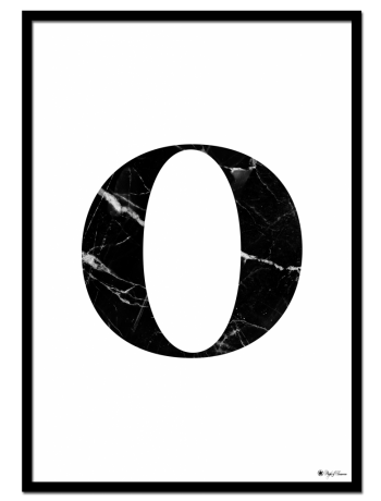O – Marble Letter