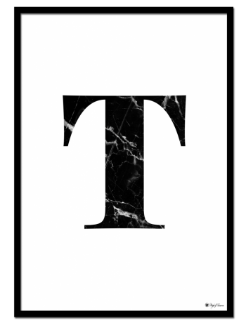 T – Marble Letter