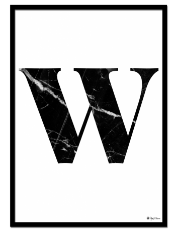 W – Marble Letter