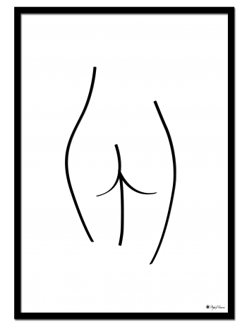 "Back poster | Line art drawing of female body. Matches perfectly with ""Front"" print."