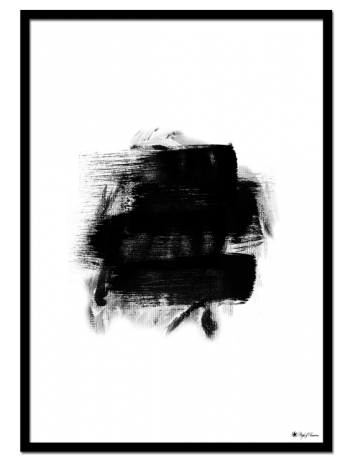 Black Brush poster | Abstract, minimalist art print. Perfect to match with other prints and styles.