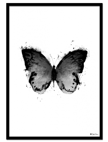 Black Butterfly poster | Artistic print of a black butterfly.