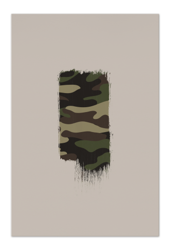 Camo Brush – Art Card