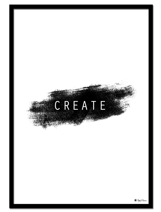 Create poster | Typography poster with brush art element.