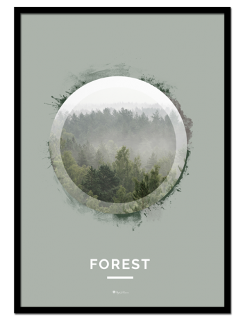"Forest poster | Nature poster of a green forest. See ""Mountain"" and ""Ocean"" for other nature motifs"