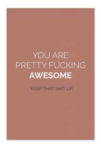 Fucking Awesome – Warm Blush – Art Card