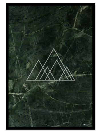 "Green Marble poster | Green marble print with triangles. Combine with ""EYE See You"" and ""Let's Get Drunk"" for the perfect gallery look."