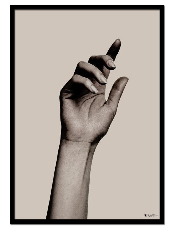 "Hand #1 poster | Beautiful poster of a hand on beige background. Match with ""Hand #2"" and ""Camo Brush"" for the perfect gallery wall."