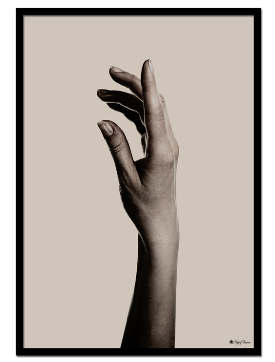 "Hand #2 poster | Beautiful poster of a hand on beige background. Match with ""Hand #1"" and ""Camo Brush"" for the perfect gallery wall."