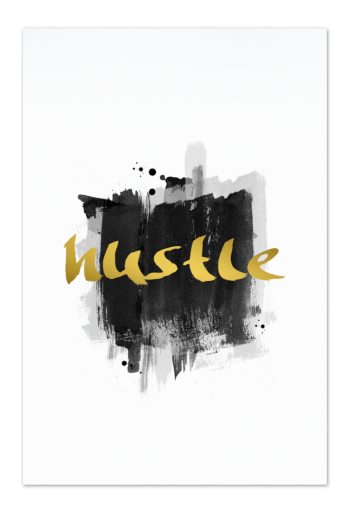 Hustle Art Card | Art doesn't have to be big to make a big impression. Our art cards are about the size of postcards, but they'll brighten up any room with their eye-catching designs. With a selection of unique art work printed on high quality paper, these are a versatile type of art for all sorts of occasions.