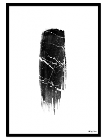 "Marble Brush poster | Brush art with marble texture. Match with ""Black Marble"" for the perfect gallery wall."