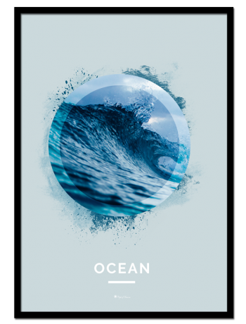 "Ocean poster | Nature poster of an ocean wave. See ""Forest"" and ""Mountain"" for other nature motifs or match with ""Good Vibes Only"" and ""Surf""."