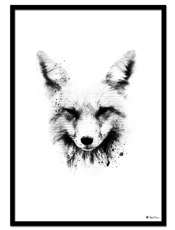 The Fox poster | Artistic print of a fox with typography elements.