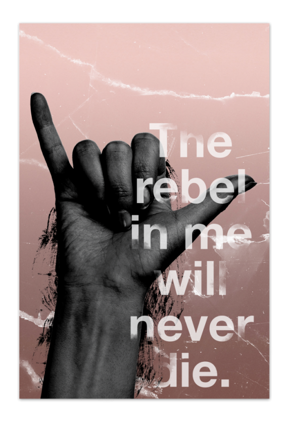 The Rebel in Me Art Card |Art doesn't have to be big to make a big impression. Our art cards are about the size of postcards, but they'll brighten up any room with their eye-catching designs. With a selection of unique art work printed on high quality paper, these are a versatile type of art for all sorts of occasions.
