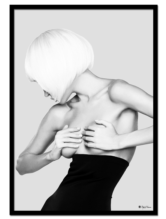 "I Am Woman #2 poster | Black and white poster of a topless woman. Match with ""I Am Woman #1"" and ""I Am Woman #3"" for the perfect gallery wall."