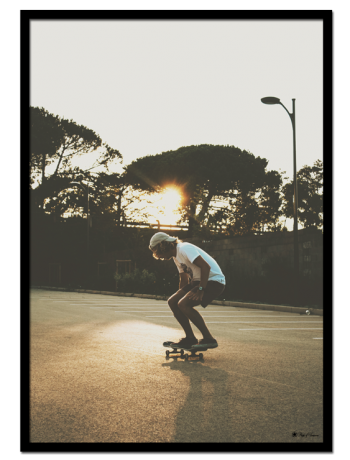 "Sunset Skate poster | Photo art poster of a man skateboarding in the sunset. Match with ""San Bernadino"" for the perfect gallery wall."