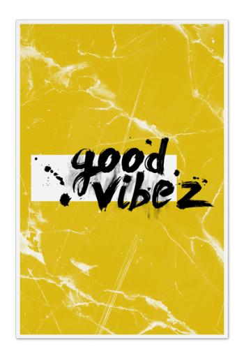 Good Vibez Art Card | Art doesn't have to be big to make a big impression. Our art cards are about the size of postcards, but they'll brighten up any room with their eye-catching designs. With a selection of unique art work printed on high quality paper, these are a versatile type of art for all sorts of occasions.