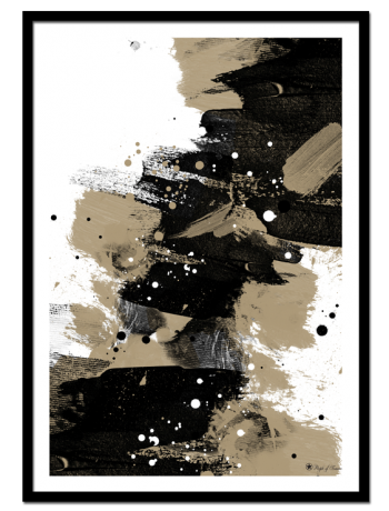 Brush Chaos poster | Abstract art print made from acrylic paint with digital modifications