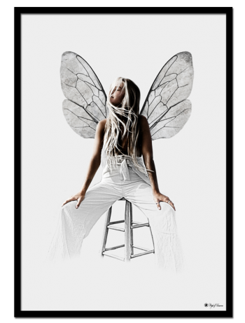 Fly poster | Graphic poster of a woman with wings.