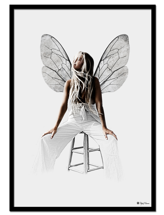 Fly poster |Graphic poster of a woman with wings.