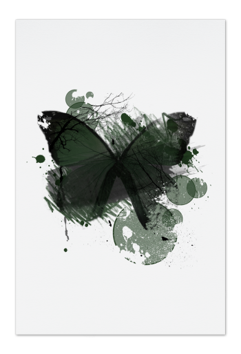 Green Butterfly Art Card | Art doesn't have to be big to make a big impression. Our art cards are about the size of postcards, but they'll brighten up any room with their eye-catching designs. With a selection of unique art work printed on high quality paper, these are a versatile type of art for all sorts of occasions.
