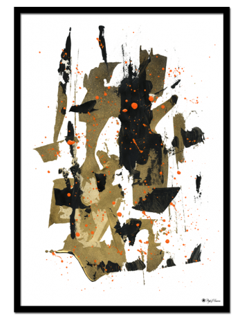 Reckless poster | Abstract art print made from acrylic paint with digital modifications.