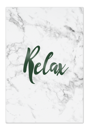 Relax Art Card | Art doesn't have to be big to make a big impression. Our art cards are about the size of postcards, but they'll brighten up any room with their eye-catching designs. With a selection of unique art work printed on high quality paper, these are a versatile type of art for all sorts of occasions.