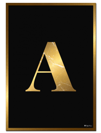 A – Golden Marble Letter