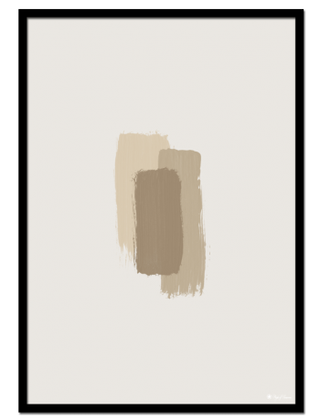 Beige Brush Strokes