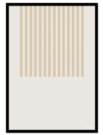 Beige Lines poster | Minimalistic print of beige lines on a light beige background.