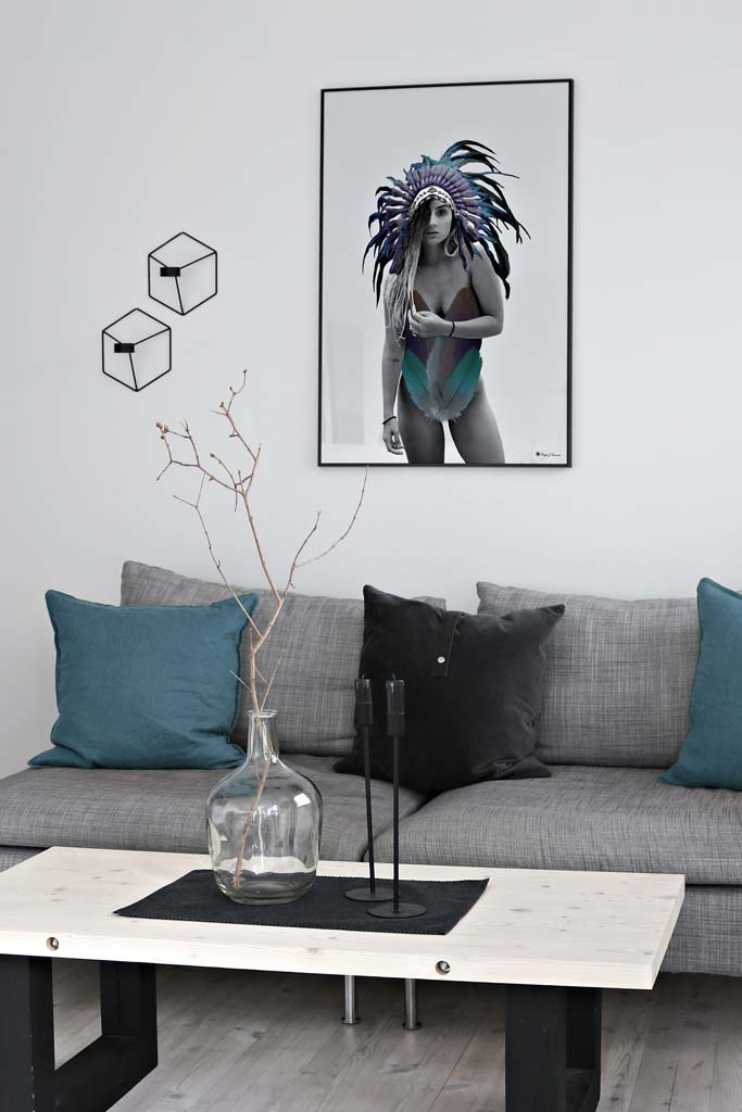 Dressed in Feathers poster |Digital painting of a woman wearing a native headdress and feathers