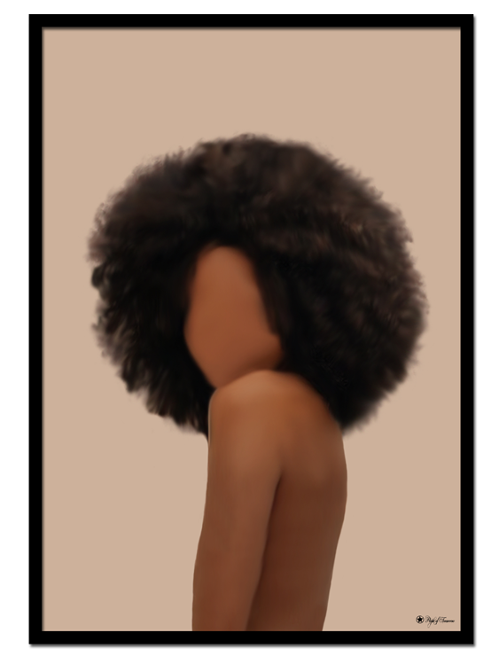 Faceless poster |Digital painting of a woman with no face.