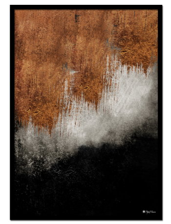 Autumn Storm poster | Abstract art print made from acrylic paint with digital modifications.