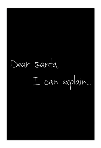Dear Santa – Black Christmas Card | Send your Christmas greetings with cute and funny Christmas Cards!