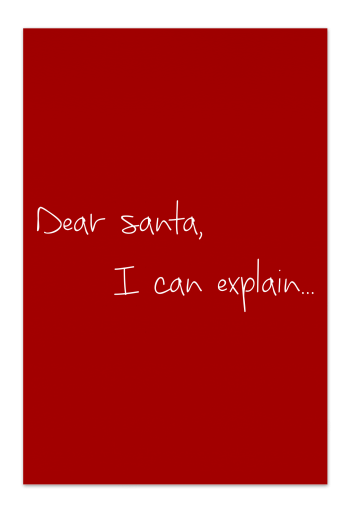 Dear Santa –  Red Christmas Card