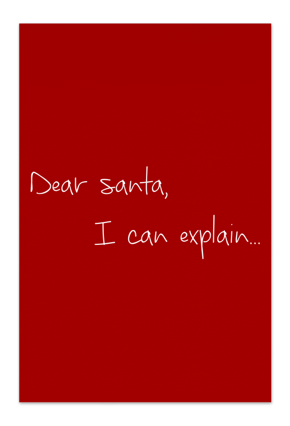 Dear Santa –Red Christmas Card | Send your Christmas greetings with cute and funny Christmas Cards!