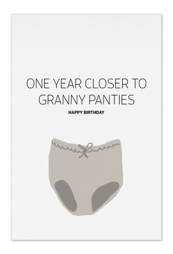 Granny Panties Art Card | People of Tomorrow
