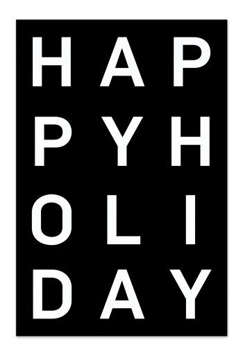 Happy Holiday – Black Christmas Card