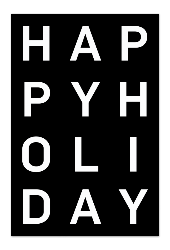 Happy Holiday – Black Christmas Card | Send your Christmas greetings with cute and funny Christmas Cards!