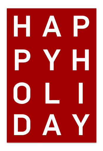 Happy Holiday – Red Christmas Card