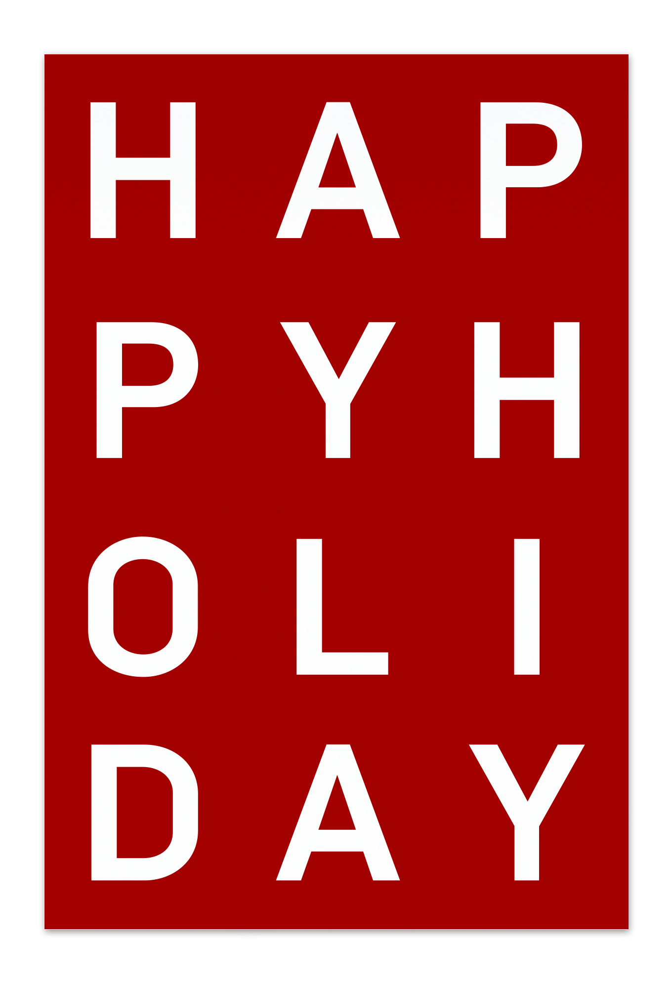 Happy Holiday –Red Christmas Card |Send your Christmas greetings with cute and funny Christmas Cards!