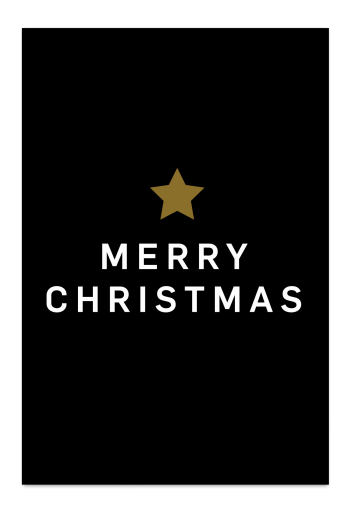 Merry Christmas – Black Christmas Card | Send your Christmas greetings with cute and funny Christmas Cards!