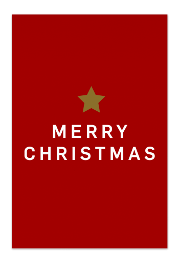 Merry Christmas – Red Christmas Card