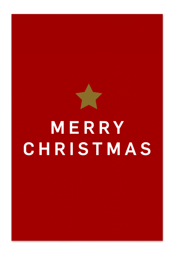 Merry Christmas – Red Christmas Card | Send your Christmas greetings with cute and funny Christmas Cards!
