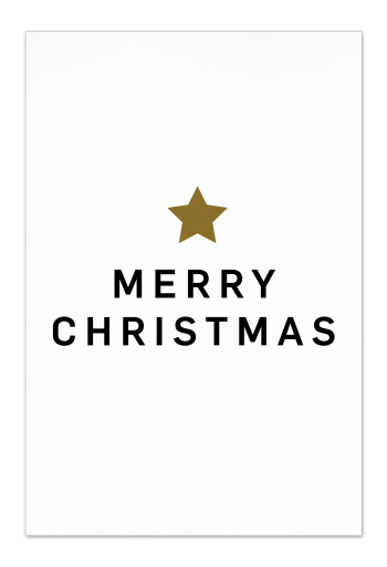 Merry Christmas – White Christmas Card