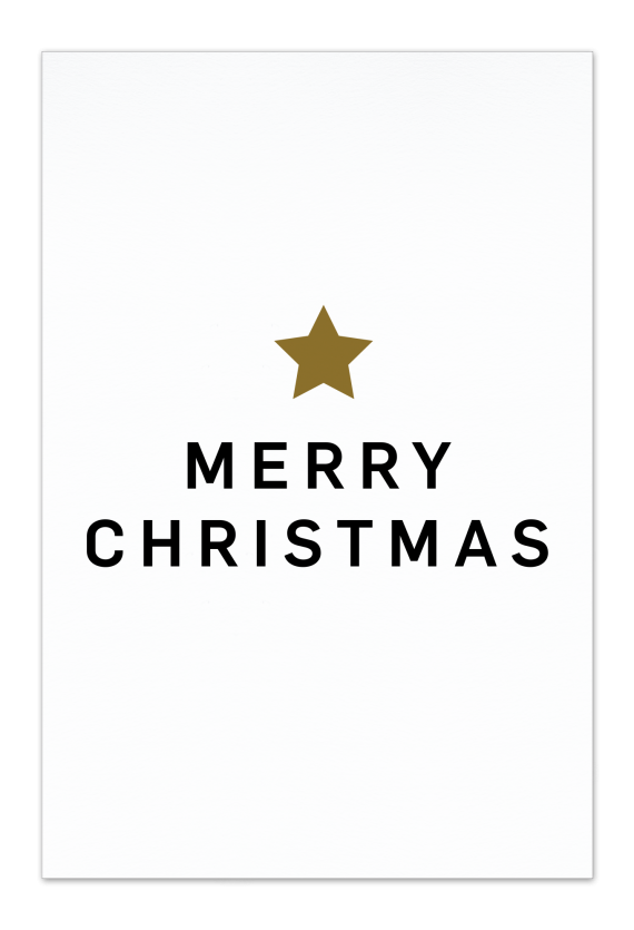 Merry Christmas – White Christmas Card |Send your Christmas greetings with cute and funny Christmas Cards!