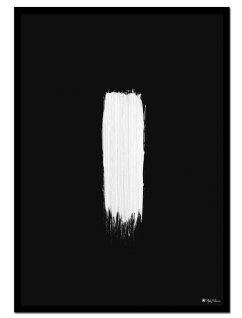 Negative Minimalism poster | Minimalistic poster of a white brush mark on black background.