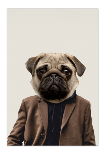 Otis the Pug Art Card | Art doesn't have to be big to make a big impression. With a selection of unique art work printed on high quality paper, these are a versatile type of art for all sorts of occasions