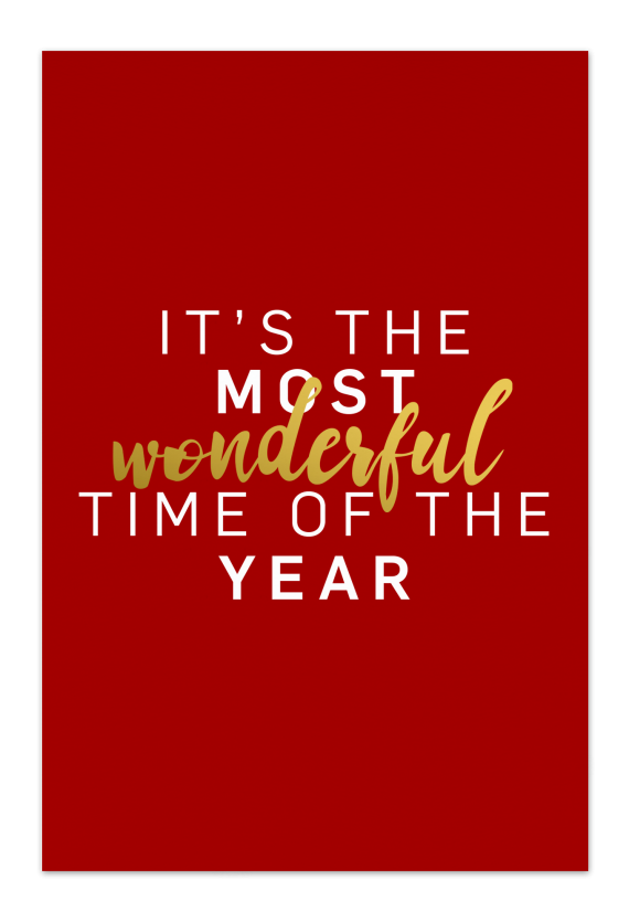 Wonderful Time – Red Christmas Card |Send your Christmas greetings with cute and funny Christmas Cards!